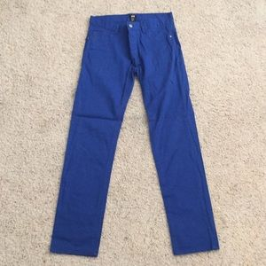 H&M men's blue cotton pants (skinny fit)